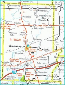 Putnam County Highway Map